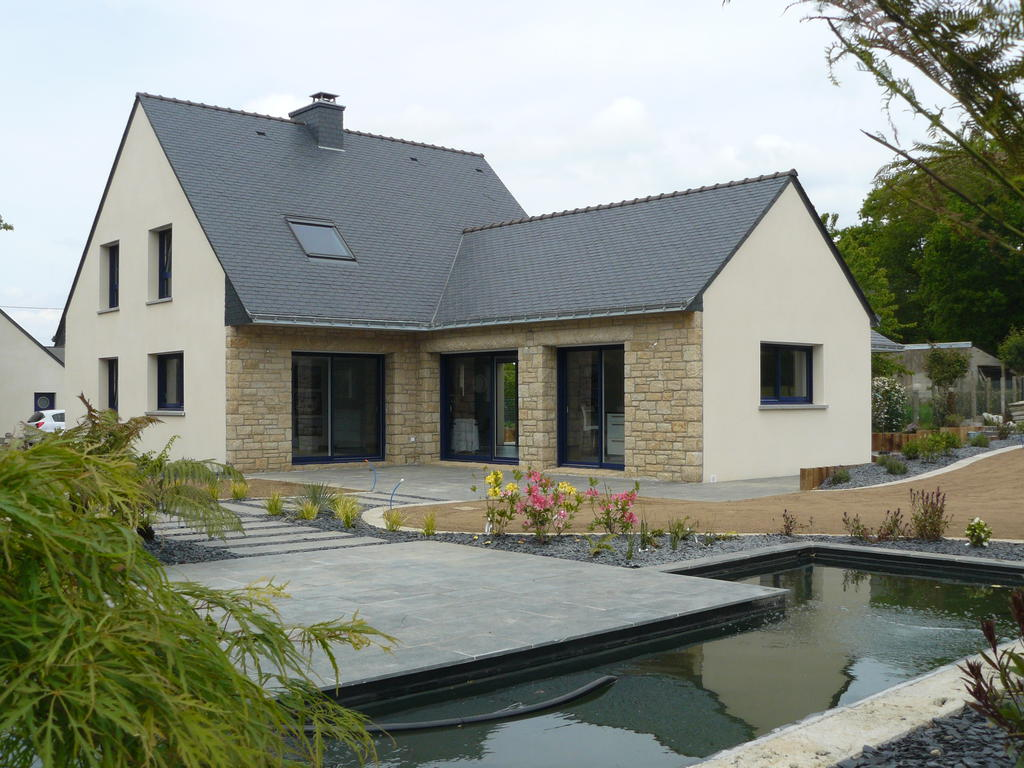 Constructions maisons neuves contemporaines - Construction peniche neuve ...