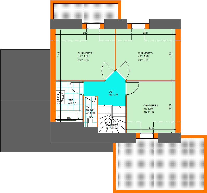 Carnac maison sur terrain 750 m2 morbihan 56 for Prix moyen m2 construction neuve rt 2012