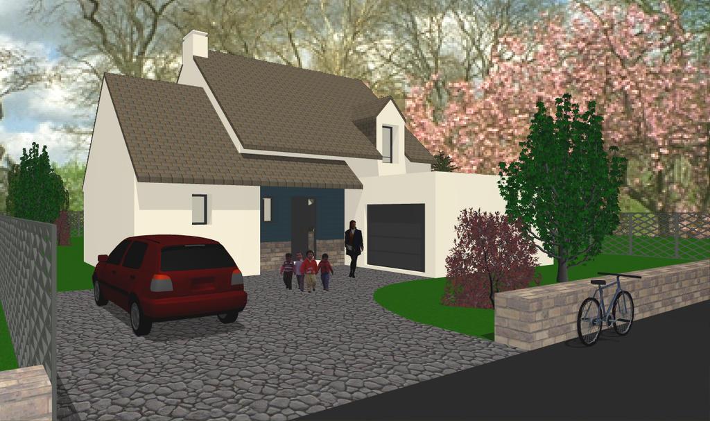 carnac maison sur terrain 750 m2 morbihan 56. Black Bedroom Furniture Sets. Home Design Ideas