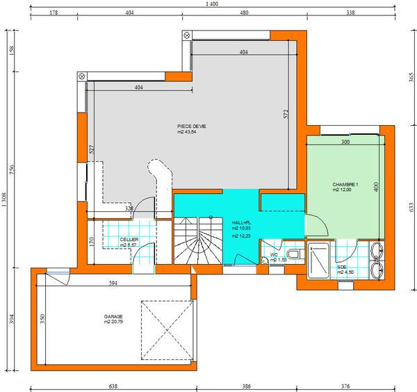 Erdeven maison sur terrain de 813 m2 for Prix moyen m2 construction neuve rt 2012