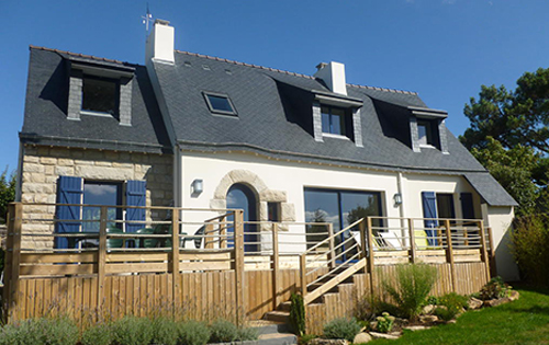 Construction de maisons morbihan bretagne for Extension maison 56